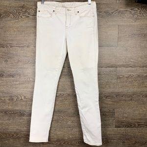 Madewell White Skinny Low Jeans 30W x 32L